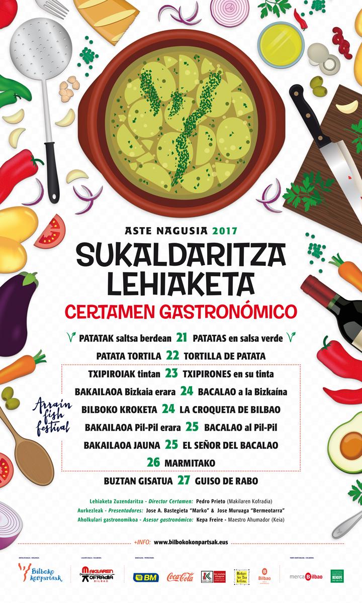 Concurso gastron mico certamen aste nagusia de bilbao - Carteles de cocina ...
